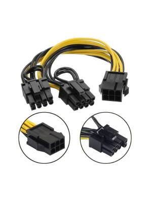 Cablu Delock PCI Express power supply 6 pin female > 2 x 8 Pin male